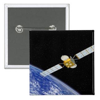 Communications Satellite Pinback Button