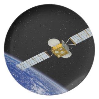 Communications Satellite Dinner Plate
