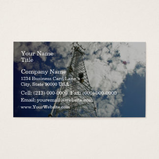 Communications tower reaching for the clouds business card
