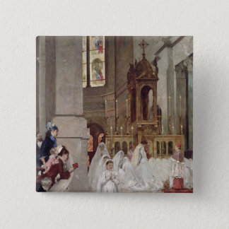 Communion at the Church of the Trinity, 1877 Button