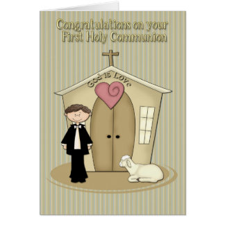 Communion Boy Card