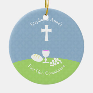 Communion Bread of Life Ceramic Ornament