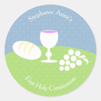Communion Bread of Life Classic Round Sticker