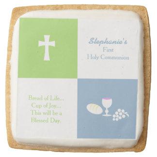 Communion Bread of Life Square Shortbread Cookie