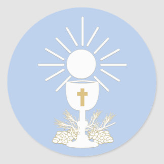 Communion Chalice, Choose Background Color Classic Round Sticker