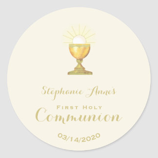 Communion Chalice Classic Round Sticker