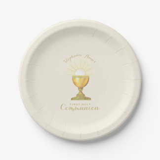 Communion Chalice Paper Plate