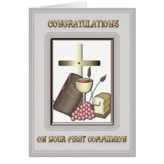 Communion Congratulations Card
