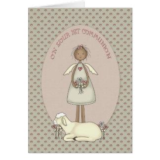 Communion Girl Angel Card