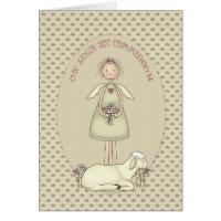 Communion Girl Angel Greeting Cards