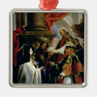 Communion of St. Teresa of Avila  c.1670 Metal Ornament