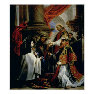 Communion of St. Teresa of Avila  c.1670 Poster