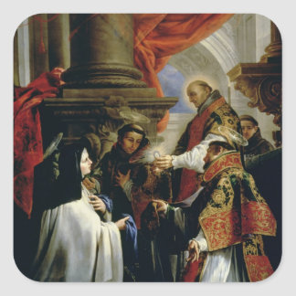 Communion of St. Teresa of Avila  c.1670 Square Sticker