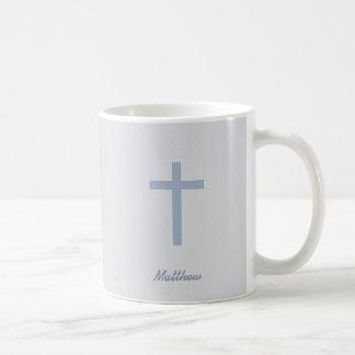 Communion Pastel Blue Cross Coffee Mug