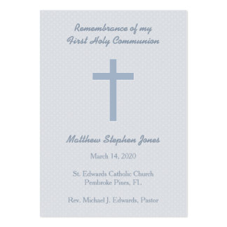 Communion Pastel Blue Cross Large Business Card