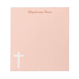 Communion Peach Vines and Stripes Notepad