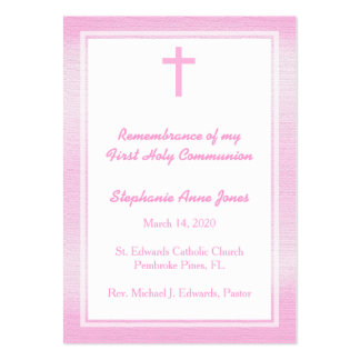 Communion Pink Watercolor Large Business Card