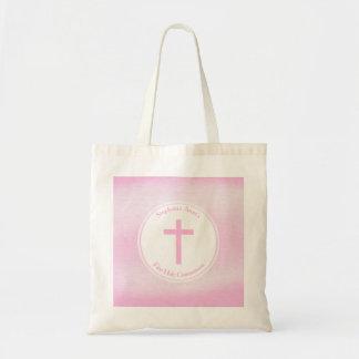 Communion Pink Watercolor Tote Bag