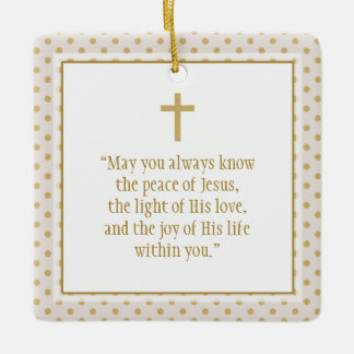 Communion Prayer Ceramic Ornament