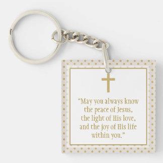 Communion Prayer Keychain