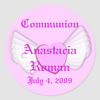 Communion Sticker-Customize Classic Round Sticker
