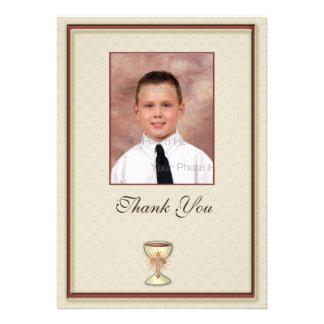 Communion Thank You Photo Card Invite