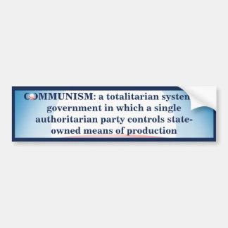 Communism Defined Bumper Sticker
