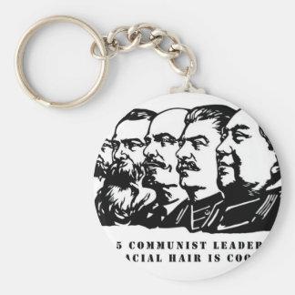 Communism facial hair keychain