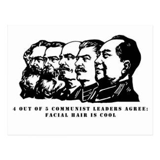 Communism facial hair postcard