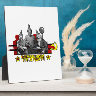 Communism It's a Party Display Plaque