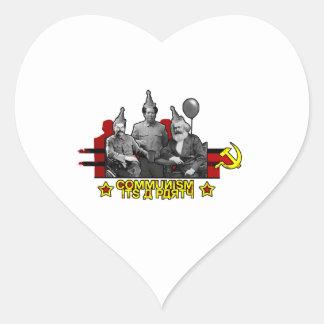 Communism It's a Party Heart Sticker