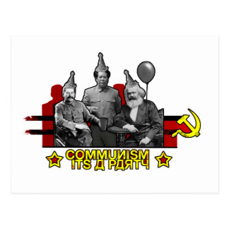 Communism It's a Party Postcard