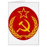 communism Russian symbol Greeting Cards