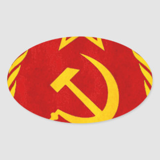 communism Russian symbol Oval Sticker