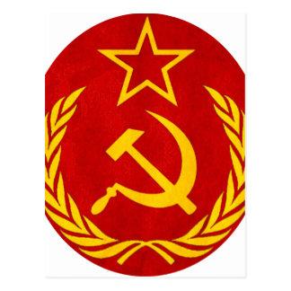 communism Russian symbol Postcard