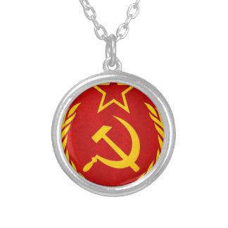 communism Russian symbol Round Pendant Necklace