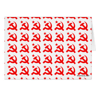 Communism sign of hammer vector stationery note card