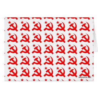 Communism sign of hammer vector card