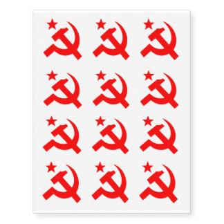 Communism sign of hammer vector temporary tattoos