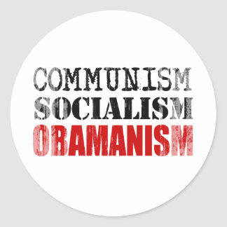 COMMUNISM SOCIALISM OBAMANISM Faded png Stickers