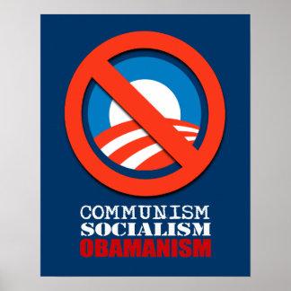 COMMUNISM SOCIALISM OBAMANISM PRINT