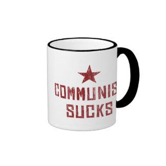 Communism Sucks Ringer Coffee Mug