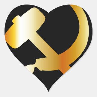 Communism Symbol Heart Sticker