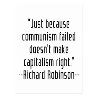 Communism VS Capitalism Postcard