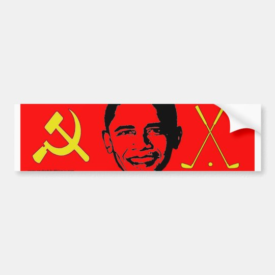 Communist and a Golfer- Bumper Sticker