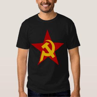 Communist DHKC Star on Black Tee Shirt