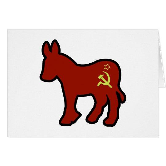 Communist Donkey Card