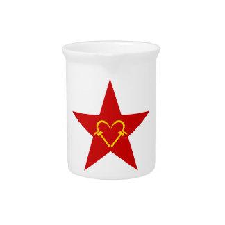 Communist Heart Beverage Pitchers
