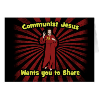 Communist Jesus Card