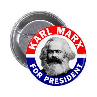 Communist Karl Marx For President 2 Inch Round Button